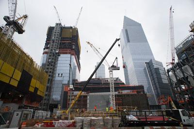 Một công trình xây dựng ở Hudson Yards, New York hôm 7/2/2017.