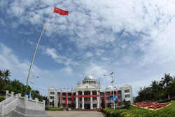 Cái gọi là Thành phố Tam sa của Trung Quốc chụp hôm 25/7/2012. AFP photo