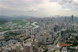 Thành phố Thẩm Quyến, Trung Quốc. AFP PHOTO / Samantha SIN.