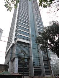 Tòa nhà EVN 33 tầng ở Hà Nội, nơi từng xảy ra vụ cháy dữ dội hôm 15/12/2011. RFA photo