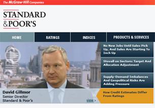 Trang web cua Standard and Poor's.  Screen capture