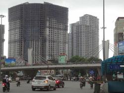 Bất động sản xây dựng dở dang ở Hà Nội. RFA photo