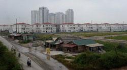 Một góc dự án bất động sản lớn ở Hà Nội chụp hôm 04/10/2012. AFP photo