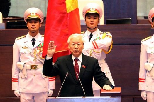 Tổng Bí thư đảng CSVN tuyên thệ nhậm chức chủ tịch nước tại Hà Nội ngày 23 tháng 10 năm 2018