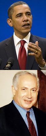 Tổng Thống Hoa Kỳ Barack Obama và Thủ Tướng Benjamin Netanyahu của Israel. AFP photo