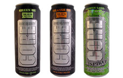 Các sản phẩm Core High Gravity của công ty Charge Beverages Corporation. Photo courtesy of FDA.