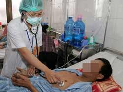 Một bệnh nhân nhiễm bệnh liên cầu lợn. Photo courtesy of 24h.com.vn