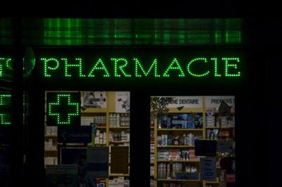 Một hiệu bán thuốc ở Pháp chụp hôm 31/12/2016.