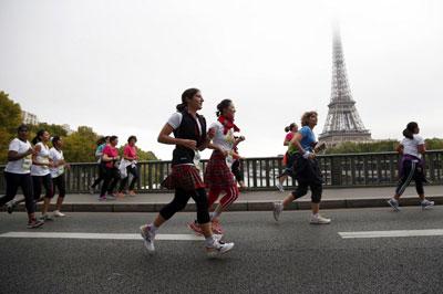 Một cuộc chạy đua dành cho phụ nữ ở Pháp hôm 13/9/2015. AFP photo