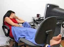 Một kiểu ngủ trưa tại văn phòng . (Hanoitranserco.com)