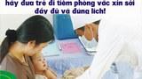 Hình ảnh, bích chương kêu gọi tiêm phòng vắc xin sởi