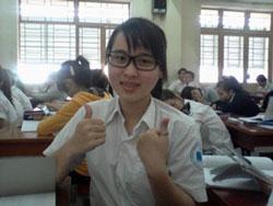 Cô Nguyễn Phương Uyên tại lớp học ở Trường Đại học Công nghiệp Thực phẩm TPHCM, ảnh chụp trước đây. Hình do Bạn cô cung cấp.