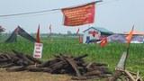 Bên ngoài xã Đồng Tâm, huyện Mỹ Đức chụp hôm 21/4/2017.