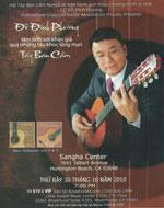 Poster giới thiệu buổi trình diễn Tây Ban Cầm của nhạc sĩ Đỗ Đình Phương tại California