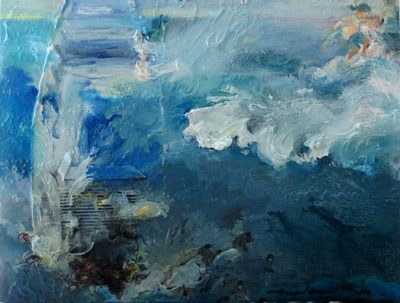 Tác phẩm Hai Bên Bờ Đại Dương vẽ vào năm 2015 của Ann Phong.