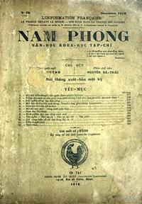 Trang trong tờ Nam Phong Tạp chí .