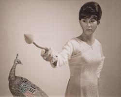 Ảnh bà Trần Lệ Xuân tức Madame Nhu do Brian Doan tái tạo lại. Photo courtesy of Brian Doan.