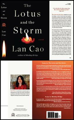 Bìa trước và bìa sau cuốn The Lotus and the Storm