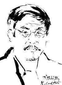 Chân dung nhà văn, nhà giáo Thái Bá Tân. Courtesy FB Thái Bá Tân.