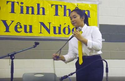 Vivian Huỳnh tại Washington ngày 3-8-2013