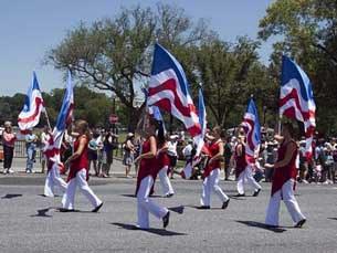 Diễu hành mừng Ngày Độc Lập Hoa Kỳ ở Washington DC hôm 04/07/2010.
