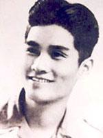 Nhạc sĩ Nguyễn Văn Tý thời trẻ.  Hình của Wikipedia.
