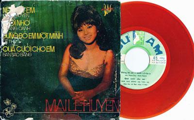 Một trong những đĩa nhạc của Ca sĩ Mai Lệ Huyền trước năm 1975