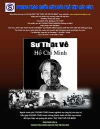 Poster quảng cáo cho bộ phim Sự thật về Hồ Chí Minh. Photo  courtesy of saigonforsaigon.org