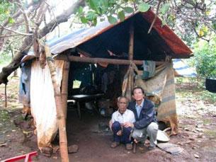 Căn nhà đơn sơ của người sắc tộc trong giáo phận Ban Mê thuột. RFA