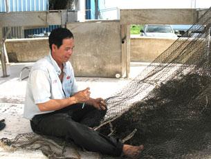 Một ngư dân Việt Nam ở Louisiana. RFA