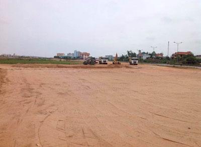 Khu đất nhà thờ đang được san bằng chuẩn cho việc xây dựng Nhà thờ mới