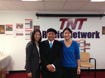 Từ trái sang: Cựu Phó Thị trưởng San Jose - Madison Nguyễn, Ông Hoàng Thế Dân và Cô Vũ Ngọc Trân. Photo courtesy of American Experience - PBS.