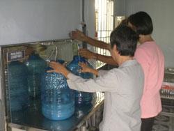 Nước sạch được cung cấp bởi dự án của Avenir Măng Non