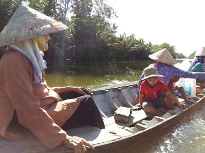 Một cảnh đời nghèo ở Cái Ngang, Trà Vinh.