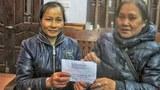 Hội Bầu bí tương thân tặng 3 triệu đồng cho chị Ngô Thị Lộc là người duy nhất là thân nhân quan tâm và tiếp tế cho anh Nguyễn Kim Nhàn trải qua từ lần thứ nhất tới lần thứ hai hiện nay anh bị cầm tù.
