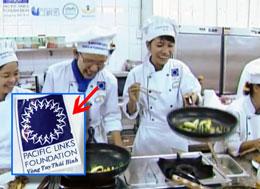 """Một số các em cũng được """"Vòng Tay Thái Bình"""" gởi đi học làm bếp ở TP HCM. RFA/screen capture"""