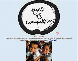 Trang web của Eyes Of Compassion, Mắt Thương Nhìn Cuộc Đời, một tổ chức từ thiện ở Toronto, Canada