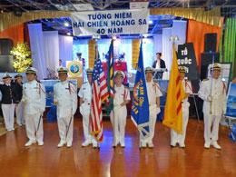 Lễ tưởng niệm 40 năm trận chiến Hoàng Sa của Hội Hải Quân Trùng Dương Dallas.  RFA files