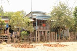 Quang cảnh Ấp Sáu, một ấp nghèo ở Hố Lương. RFA