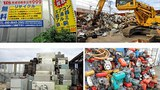 Những núi đồ điện tử phế thải do công ty Thành Công - Seiko Shokai thu mua để xuất khẩu.