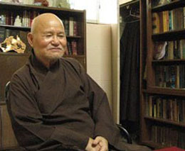 Đức Tăng Thống Thích Quảng Độ tại Thanh Minh Thiền Viện.