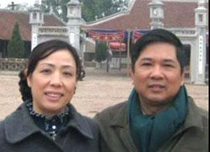 Luật sư Nguyễn Thị Dương Hà, và chồng là Tiến sỹ Cù Huy Hà Vũ. RFA file