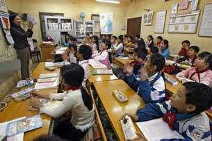 Một lớp học tiểu học ở Hà Nội.