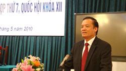 Chủ nhiệm VPQH Trần Đình Đàn. Photo courtesy of Vietnamnet