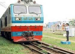 Một tuyến xe lửa địa phương ở Việt Nam. RFA file Photo.
