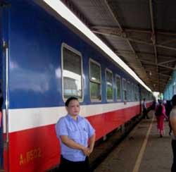 Tuyến xe lửa Bắc Nam hiện tại ở Việt Nam. RFA file Photo.