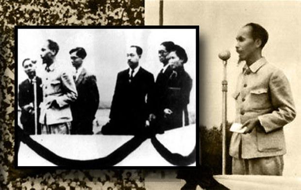 Ô. Hồ Chí Minh đọc tuyên ngôn độc lập trên Quảng trường Ba Đình ngày 2 tháng 9 năm 1945
