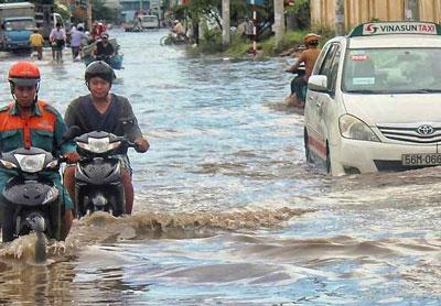 Sài Gòn mừa mưa 2015. RFA