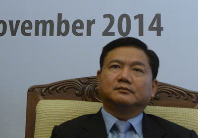 Ông Đinh La Thăng thời còn làm Bộ trưởng Giao thông, năm 2014.