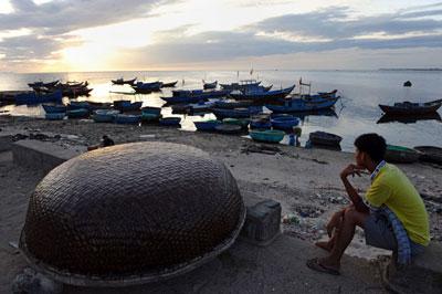 Tàu đánh cá của ngư dân Lý Sơn. AFP photo